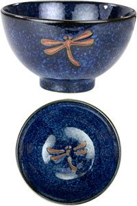 Midnight Dragonfly Bowl