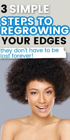 Learn how you can grow your edges back after having lost them. These 3 simple tips will also help you to combat thinning edges as well. #naturalhair #haircare #hairtips #curlyhair Hair Loss After Pregnancy, Postpartum Hair Loss, Cherry Lola Treatment, Grow Edges, Thinning Edges, Curly Hair Styles, Natural Hair Styles, Hair Specialist, Long Natural Hair