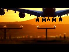 windy summer sunset planespotting @ Zurich Airport 21.08.2016 - YouTube