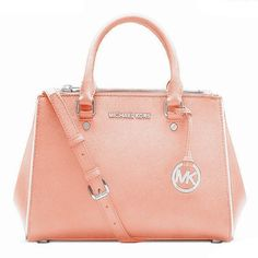 Michael Kors Sutton Saffiano Leather Medium Flesh Pink Satchels only $71.99