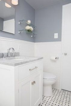 18 Beautiful Half Bathroom Ideas to Inspire You Cleveland Park Small Bathroom Remodel - traditional - bathroom - dc metro - Meg Tawes Kitchens, Bathro. Guest Bathroom Remodel, Top Bathroom Design, Bathroom Renovation, Traditional Bathroom, Small Bathroom Remodel, Minimalist Small Bathrooms, Bathrooms Remodel, Tile Bathroom, Small Remodel