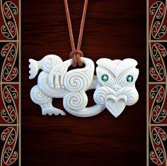 Maori Necklace, New Zealand Tribal Bone Carving Pendant, Handmade by Tuwharetoa Bone® Hei Tiki Fish Hook Necklace, Polynesian People, Maori People, Maori Designs, Art Diary, Maori Art, Carving Designs, Bone Carving, New Zealand