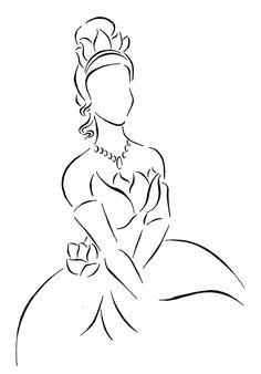 Tiana lineart by ~Kezzamin on deviantART.I wonder if someone can draw my face in! I Princess Tiana! Disney Kunst, Arte Disney, Disney Art, Disney Movies, Disney Sketches, Disney Drawings, Disney Tattoos, Disney And Dreamworks, Disney Pixar