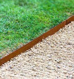 Corten Steel Straight Garden Edging by Adezz Yard Edging, Steel Edging, Corten Steel, Exterior, Green Life, Front Yard Landscaping, Landscaping Ideas, Garden Beds, Garden Projects