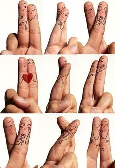 Finger Art, Finger Plays, Finger Cartoon, How To Draw Fingers, Love Heart Images, Cute Profile Pictures, Finger Tattoo Designs, Girly Drawings, Alice