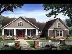 Bungalow Style House Plans - 2400 Square Foot Home , 1 Story, 4 Bedroom and 2 Bath, 2 Garage Stalls by Monster House Plans - Plan seriously close to perfect. Craftsman Style House Plans, Cottage House Plans, Country House Plans, Cottage Homes, House Floor Plans, Cottage Style, Craftsman Cottage, Craftsman Homes, Rustic Cottage