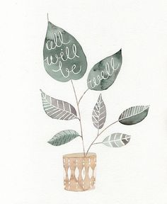 well print, art, inspir, word, all will be well, quot, illustr, design, julianna swaney