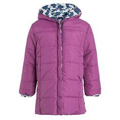 Buy Hatley Girl's Reversible Horse Puffer Coat, Navy/Pink from our Girlswear Offers range at John Lewis & Partners. Navy Pink, Winter Jackets, Horse, Comfy, Cotton, Stuff To Buy, Fashion, Moda, Winter Vest Outfits