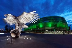 Groupama Aréna Sasa Hungary, Budapest, Opera House, Gate, Clouds, Sport, Architecture, Building, Travel