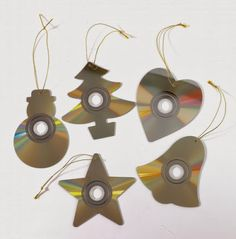 . . . . . How to Recycle: Recycled Christmas Tree Ornaments CD cut-outs