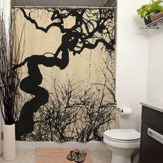 Mozartgrab Printed Shower Curtain by JanetAnteparaDesigns on Etsy Gothic Interior, Gothic Home Decor, Gothic Bathroom, Bathroom Mural, Dark House, Goth Home, Upstairs Bathrooms, Gothic House, Vintage Photography
