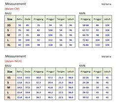 Standard measurements