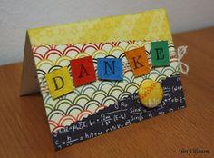 Käsitöitä flamencohame hulmuten * Siiri Viljanen - Thank you card