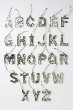 Mercury Glass Monogram - anthropologie.com