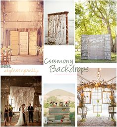 Ceremony Backdrops