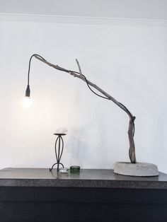 Driftwood lamp made by Blue Thimble Denim