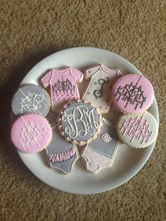 Chandelier Baby Shower Cookies