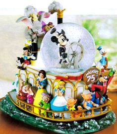 Disney Snowglobes Collectors Guide: Mickey's 75th Anniversary Steamboat Snowglobe