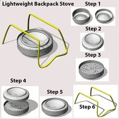 Lightweight Backpack Stove You can make this simple back packing stove with little cost ($0.25 US). This makes a great scout troop activity. What youll need: see website for info - yosemitebob