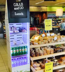 """This """"Grab & Go"""" Freshboard at a SHELL petrol shop in the Netherlands is the perfect way to bring a mission: brighten up breakfast and liven up lunchtime for people on the move."""