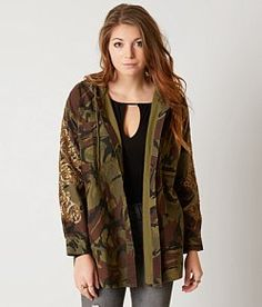 Miss Me Vintage Camo Hooded Jacket