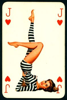 Vintage pinup playing card
