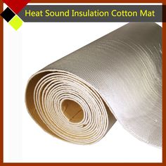 "45cm x100cm Car Truck SUV Sound Heat Insulation Cotton Deadening Deadener Aluminum Foil Material 18""x40"" Free Postage !"