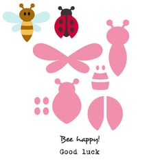 Marianne Design Collectables Cutting Die & Clear STAMPS Bee and Ladybird for sale online Felt Patterns, Applique Patterns, Craft Patterns, Bee Template, Templates, Bumble Bee Wings, Felt Crafts, Paper Crafts, Marianne Design