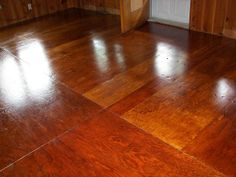 More plywood floor.  I like the shade of the stain on this one.