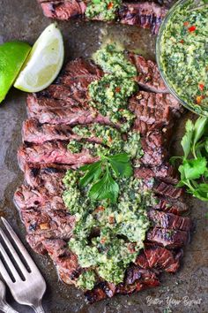 31 Refreshing Summertime Recipes To Make This July Skirt Steak Recipes, Grilled Steak Recipes, Grilled Beef, Grilling Recipes, Beef Recipes, Grilled Steaks, Grilling Chicken, Kitchen, Sauces