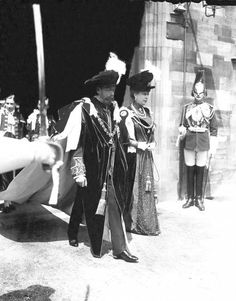 Queen Mary and King George V in the Garter Procession at Windsor