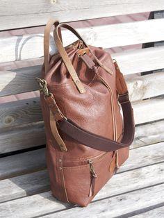 "Elena Grishina: Сумка-торба ""Странник"" Big brown leather bag Grishina"
