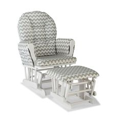 Stork Craft Chevron Hoop Custom Glider Chair