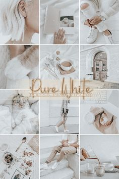 5 Pure White and Airy Lightroom Presets for Mobile and Desktop, White Presets, Clean Filter, White Lightroom Presets, VSCO filter Instagram Feed Tips, Instagram Grid, Instagram Blog, Instagram Story Ideas, White Instagram Theme, White Feed Instagram, Ig Feed Ideas, Wedding Presets, Lightroom Tutorial
