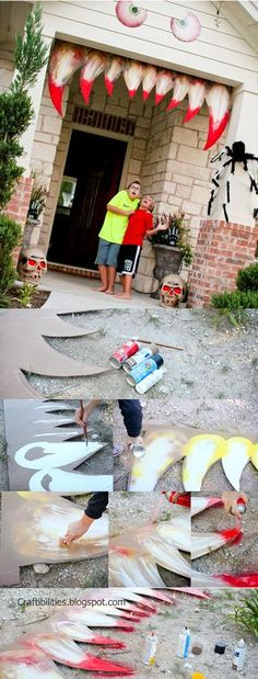 HALLOWEEN Hacks Tricks and Treats: POSHANDGROOVE@pinterest Making your house come ALIVE!!! Halloween decoration IDEAS…