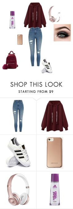 """24.01.2018"" by ania-chudzik on Polyvore featuring moda, River Island, adidas, Karen Millen, Beats by Dr. Dre i ASAP"