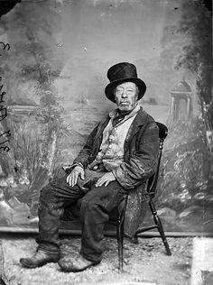 Mr Owen, the old bellringer of Llangollen, c. 1875