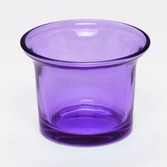 Flared Tealight Glass Cup - Purple Glass