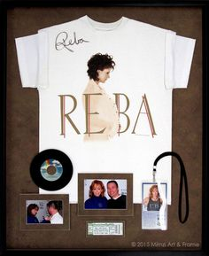 Frame that signed T-shirt that you bought at your favorite concert with tickets and photos from the fun night!