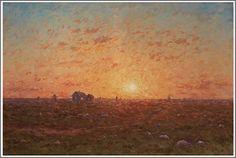 Per Ekström (1844-1935), Coucher de Soleil, Öland.