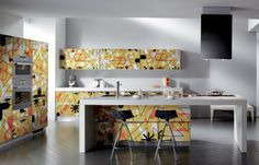 Living Crystal by Scavolini Creates Striking Colors for the Home