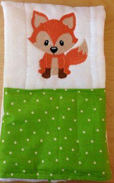 Fox burp cloth Woodland animal burp cloth by BrinleysBowtique32