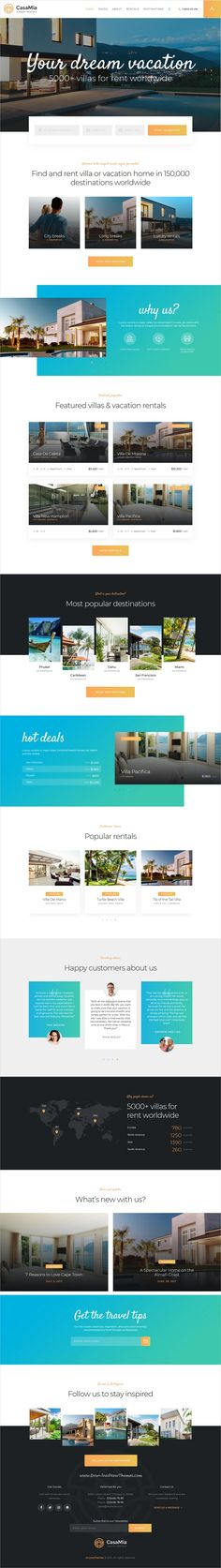 CasaMia is clean and modern design 3in1 responsive #WordPress theme for #realestate and property #rental business website to live preview & download click on Visit 👆