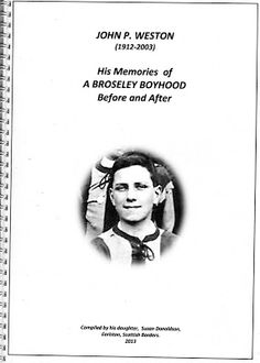 Family History Fun: My Dad's Broseley Boyhood - Sentimental Sunday