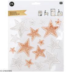 Compra nuestros productos a precios mini Autoadhesivo gel - Estrellas con purpurina - 2 a 7 cm - 16 uds - Entrega rápida, gratuita a partir de 89 € !