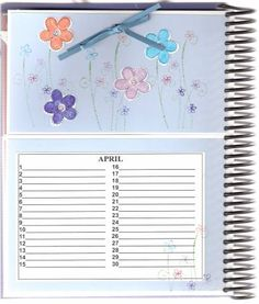 April page of Card Organizer by DRStamper - Cards and Paper Crafts at Splitcoaststampers Card Organizer, Organizers, Paper Crafts, Organization, Birthday, Cards, Getting Organized, Organisation, Birthdays