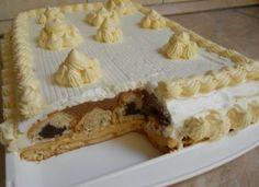Sastojci: - 1 l mlijeka - 3 pudinga od vanilije - 1 kasika gustina - secera u prahu - . Romanian Desserts, Croatian Recipes, Sweet Cakes, No Bake Cake, Vanilla Cake, Baking Recipes, Sweet Treats, Sweets, Chocolate