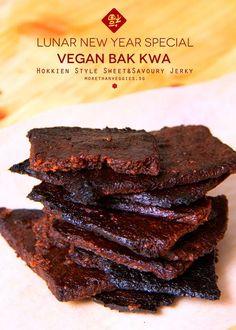 BAK KWA - Hokkien style sweet and savoury jerky. Vegan & Gluten free.