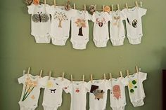Fabric pens would be a good idea if there was a station to make onesies :) and make the onesies thSt have a number for the month!? Then everyone can decorate their own month. @Aly Dratch Fetherolf @Amanda Snelson Hagedorn