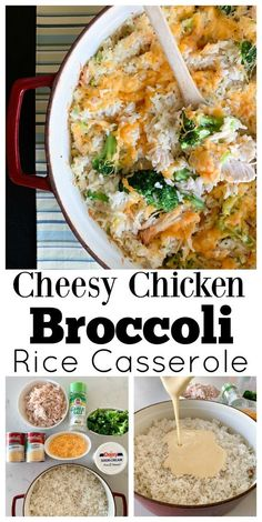 Sharing my Cheesy Chicken Broccoli Rice Casserole today that makes the perfect quick fix weeknight dinner! Packed with creamy rice chicken and broccoli! Broccoli Cheddar Chicken, Chicken Broccoli Rice Casserole, Cheesy Chicken, Recipes With Chicken Rice And Broccoli, Chicken Dishes With Rice, Chicken Soup, Cream Of Chicken Casserole, Meals With Rice, Hamburger Rice Casserole